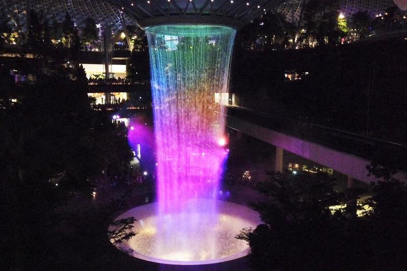 シンガポール jewelのライトアップショー