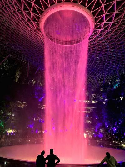 jewelの滝 ライトアップピンク