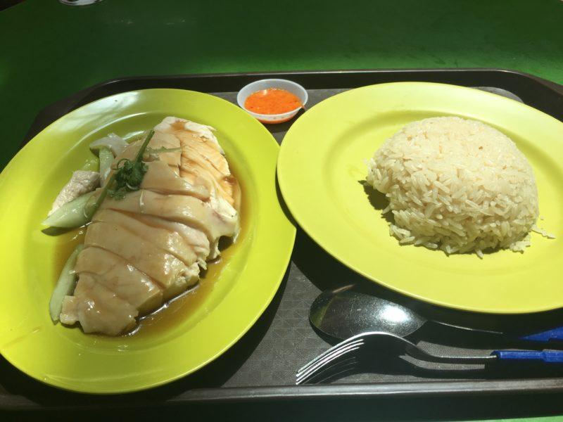 天天海南鶏飯のチキンライス(サイズL)