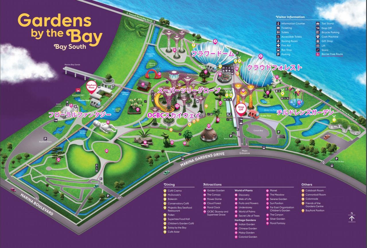 ガーデンバイザベイの地図