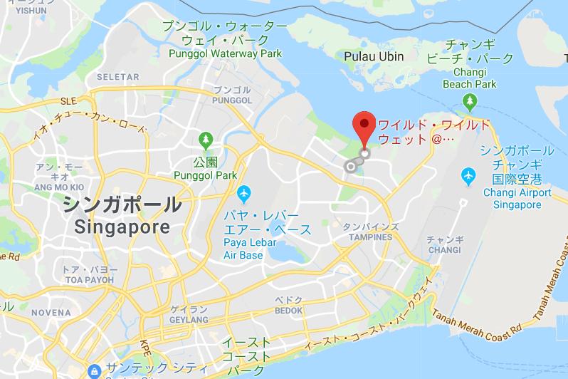 シンガポールの観光スポット プール「ワイルドワイルドウェット」の場所