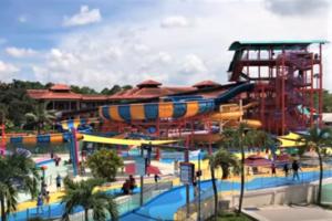 シンガポールの観光スポット プール「ワイルドワイルドウェット」の流れるプール
