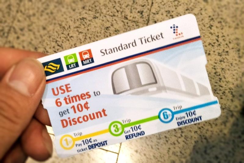 singapore mrt standard ticket