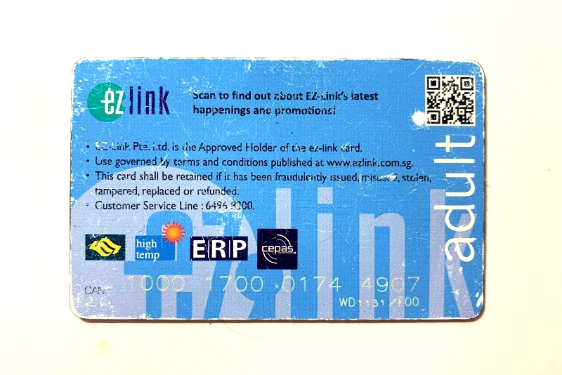singapore mrt ez-link Card