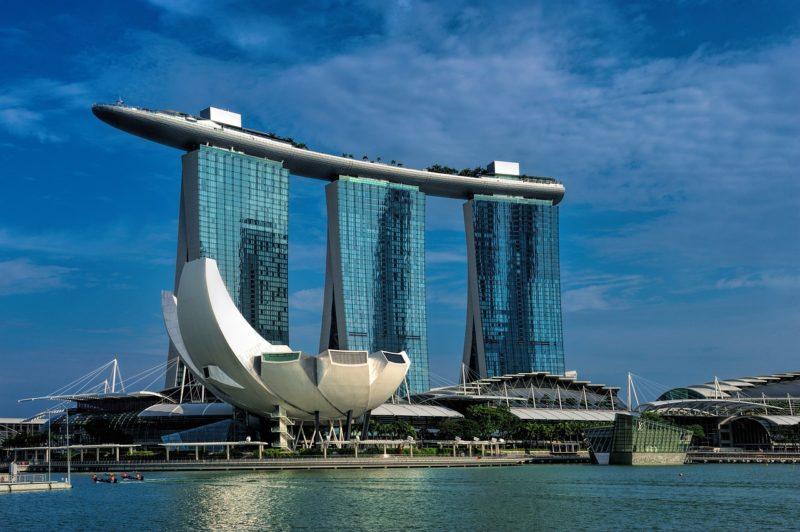 シンガポールの観光スポット  マリーナベイサンズ