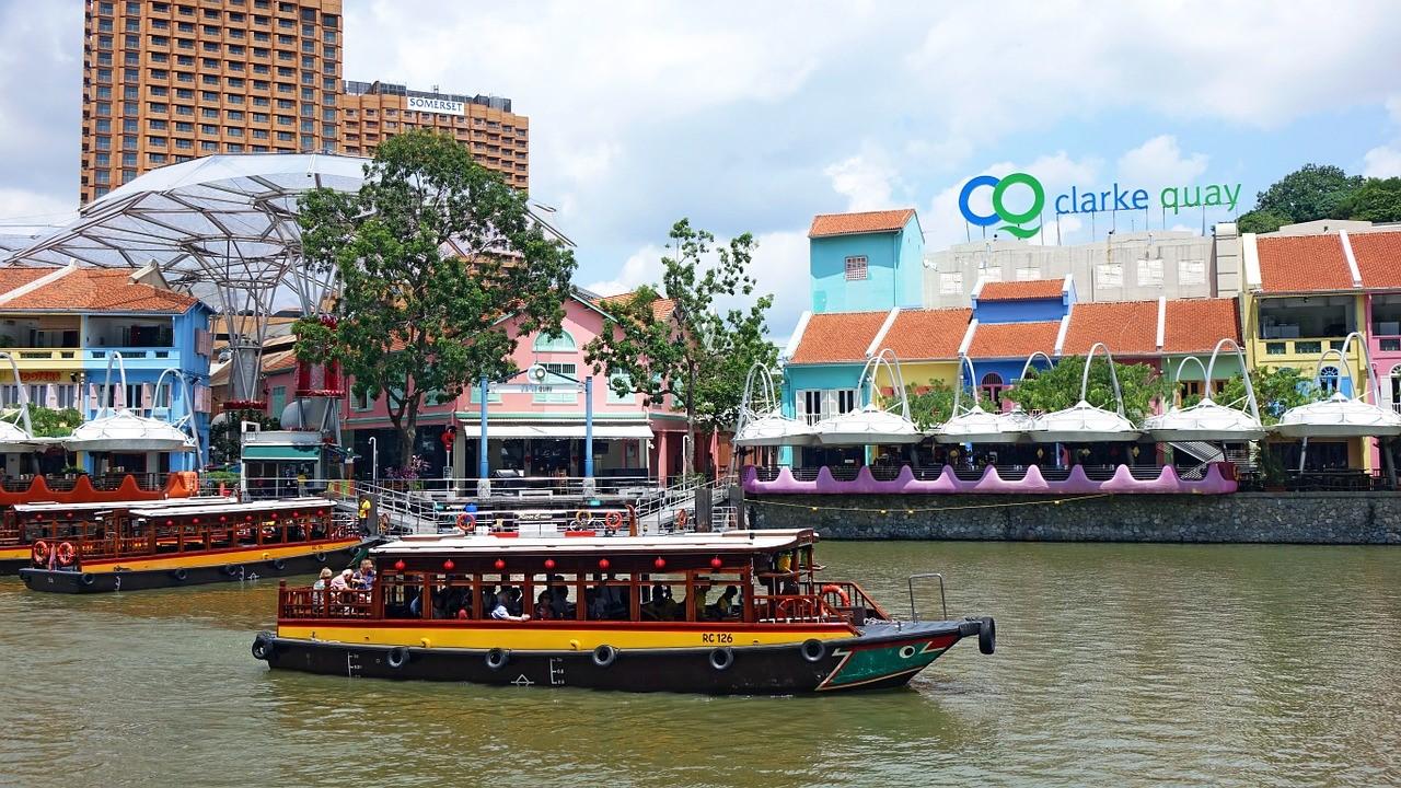 シンガポールリバークルーズ クラークキーの船乗り場