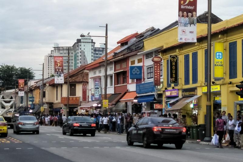 シンガポールの観光スポット インド人街の風景
