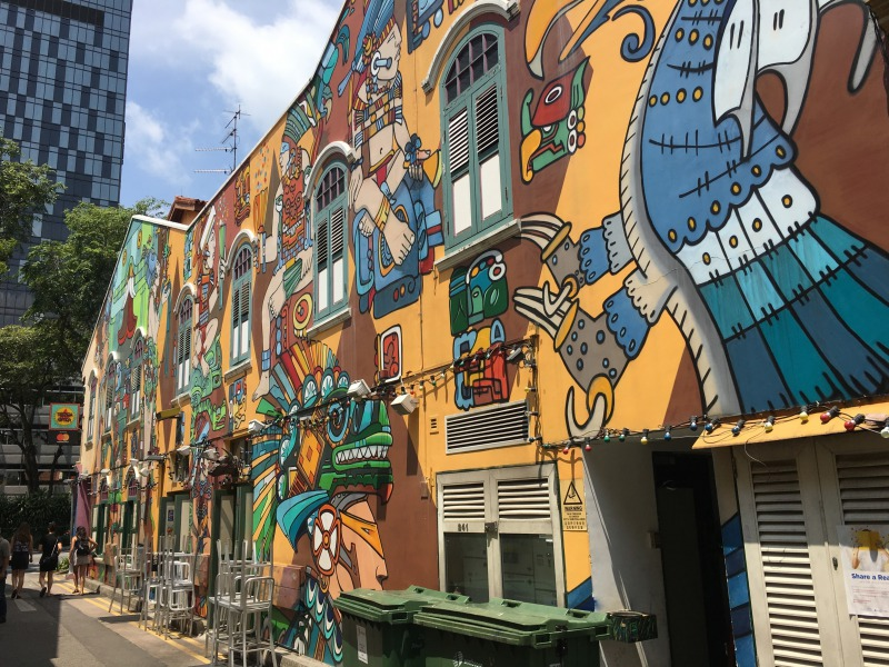 シンガポールの観光スポット アラブストリートのウォールペイント