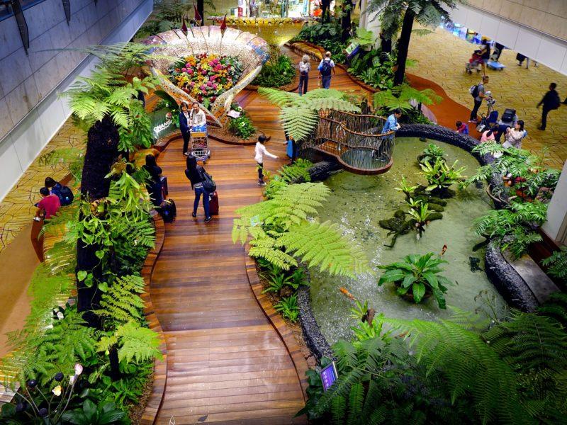 シンガポールの観光スポット チャンギ国際空港