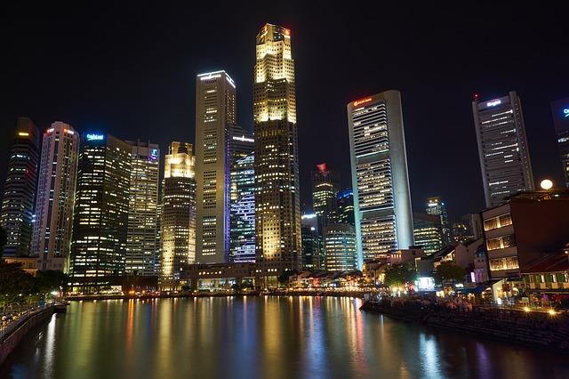 シンガポール川の夜景
