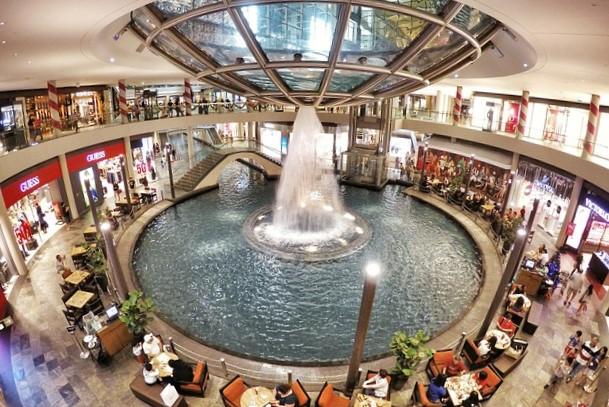 マリーナベイサンズの噴水