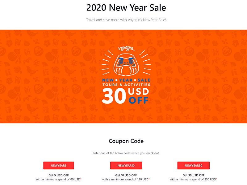 voyagin new year sale