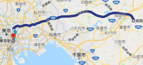 京成スカイライナーの経路