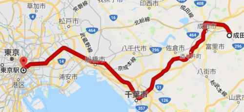 成田エクスプレスの経路