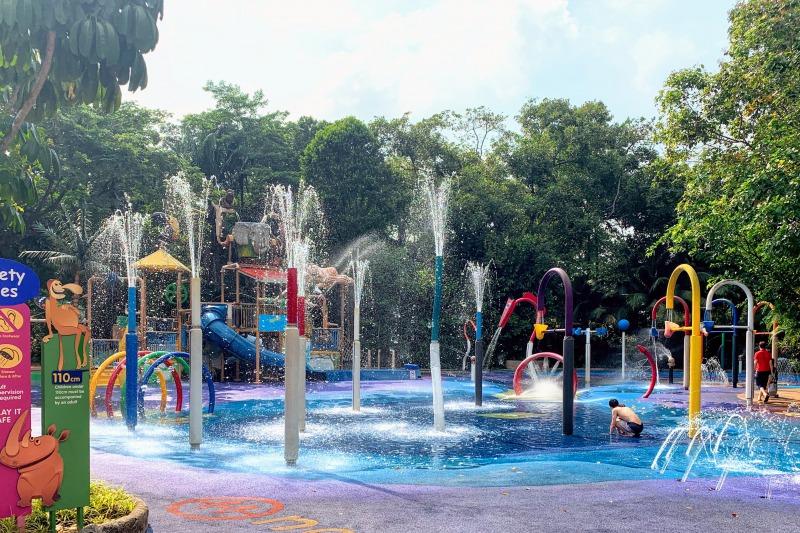 シンガポール動物園の水遊び場