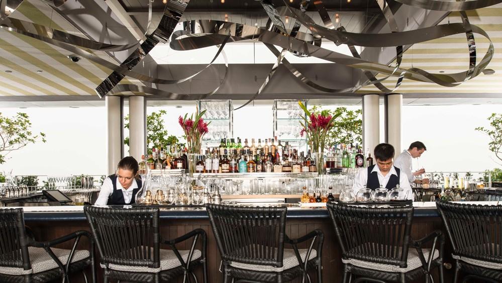 マリーナベイサンズの屋上レストランSpago
