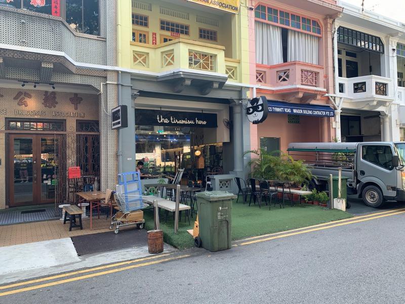 シンガポールのティラミスヒーロー本店の外観