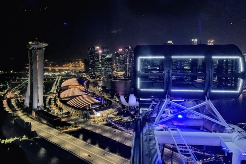 シンガポールフライヤーからの眺め