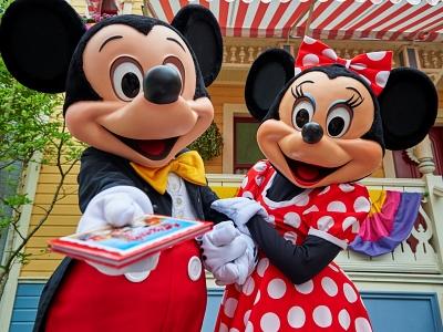 ディズニーランドパリのミッキー&ミニー