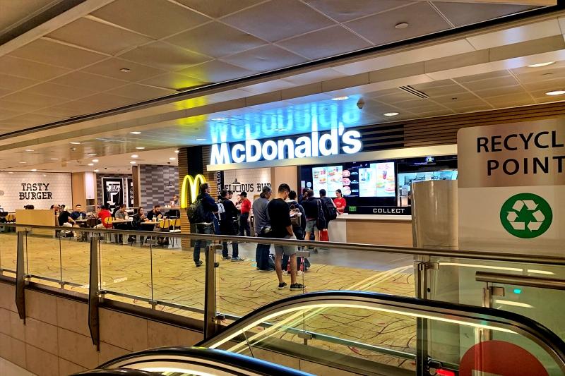 singapore changi airport terminal 2 mcdonald's