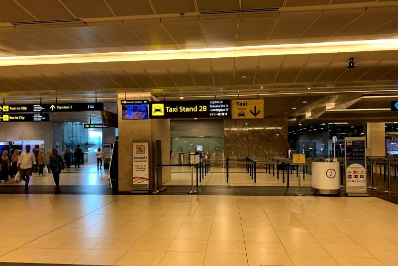 シンガポールチャンギ空港ターミナル1のタクシー乗り場