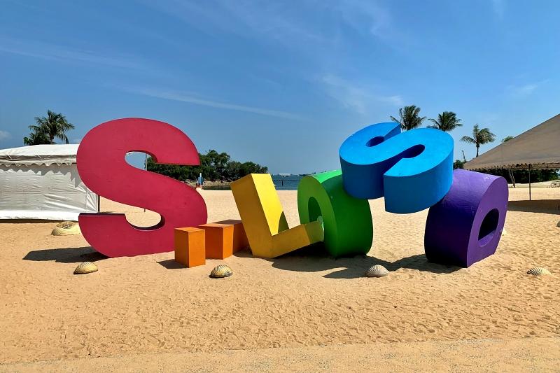シンガポールセントーサ島シロソビーチのオブジェ