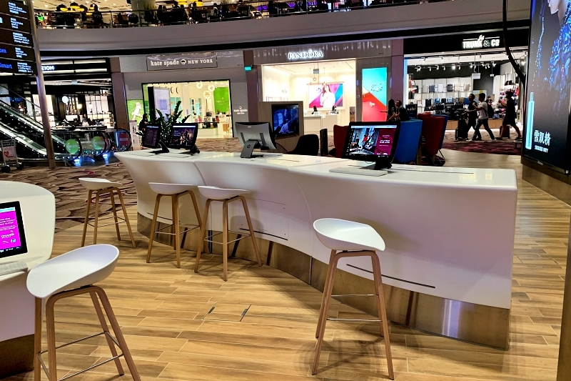 singapore changi airport terminal 4 free pc